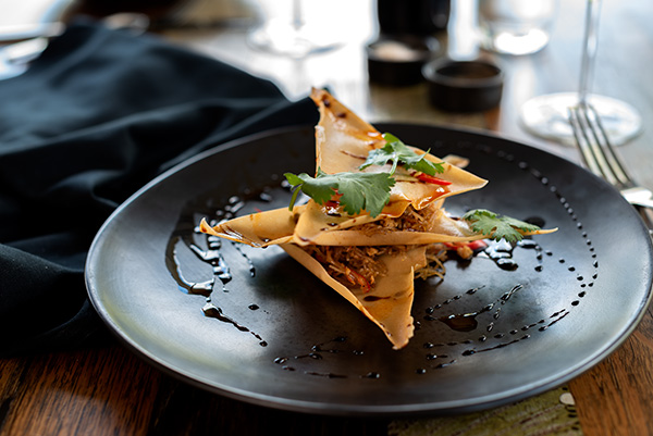 Chicken Spring Roll, Food Photography, Bella Restaurant, Yarra Valley Lodge