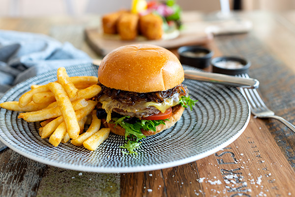 Beef Burger, Food Photography, Bella Restaurant, Yarra Valley Lodge