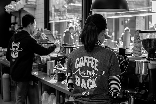Coffee has my back, The Shed, food and beverage and lifestyle photography